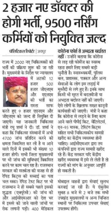 Rajasthan ANM GNM Bharti
